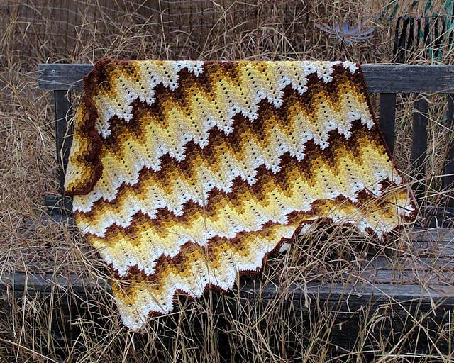 Ravelry Grandma Spiked My Ripple Blanket Pattern By Darlisa Riggs