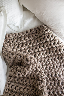 Ravelry Hand Crochet Chunky Blanket Pattern By Flax Twine Anne Weil