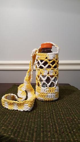 Ravelry What A Mesh Bottle Holder Pattern By Goddess Crochet