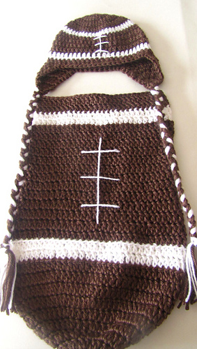 Ravelry Crochet Football Cocoon Pattern By Sick Lil Monkeys