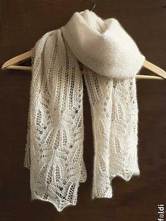fa87fa4d353e Ravelry  Panna Frost Flower Lace Shawl pattern by Foldi knit