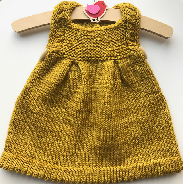 robe pour filette tricotée Honey Pie par Lisa Chemery