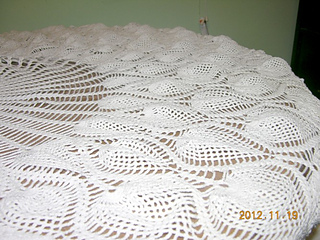 Marvelous Ravelry: Round Pineapple Tablecloth #7592 Pattern By The Spool Cotton  Company