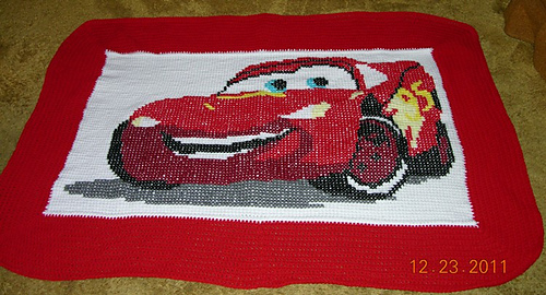 Ravelry Cars Lightning Mcqueen Afghan Pattern By Cuddle