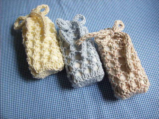 Ravelry No Sew Knitted Soap Sack Pattern By Lois Mitchell