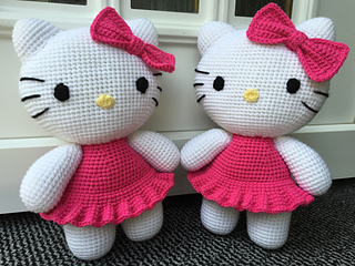 Ravelry big hello kitty pattern by ellad design dt1010fo