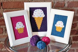 Ravelry Quot Sweet Treats Quot Knitted Wall Art Pattern By Lauren