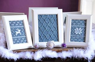 """""""Fair Isle Flurries"""" Knitted Wall Art pattern by Lauren Riker"""