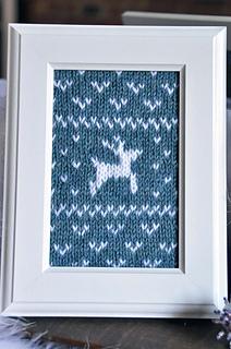 Fair_isle_flurries_framed_knitted_wall_art_teal_reindeer_small2