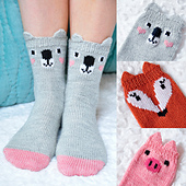 Pawsome_pals_koala_fox_pig_ankle_socks_with_ears_knitting_pattern_small_best_fit