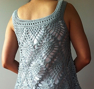 Free Crochet Patterns For Sleeveless Tops : Ravelry: Jordan - sleeveless pineapple top pattern by ...