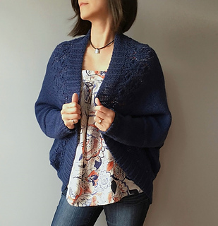 569238c11e67f Ravelry  Madeline - lace border shrug cardigan pattern by Vicky Chan