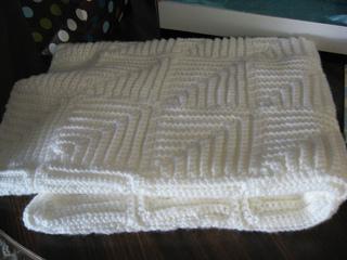 Ravelry Mitered Squares Baby Blanket Pattern By Bernat