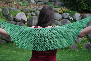 Higher Power Silk Prayer Shawl pattern by Becky Dirlam