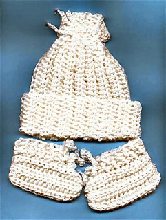 Ravelry  Easy Crocheted Newborn Baby Hat   Booties pattern by Judith Prindle 07f777b1d07