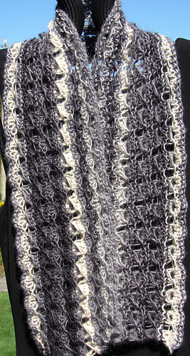 1 Skein Broomstick Lace Scarf