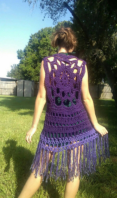 Ravelry Boho Fringe Vest Pattern By Earth Tricks