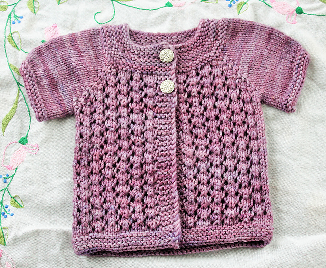 Ode to Doris knit baby cardigan