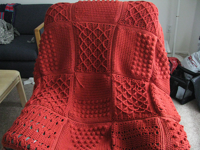 Ravelry Fisherman Sampler Throw Pattern By Lion Brand Yarn