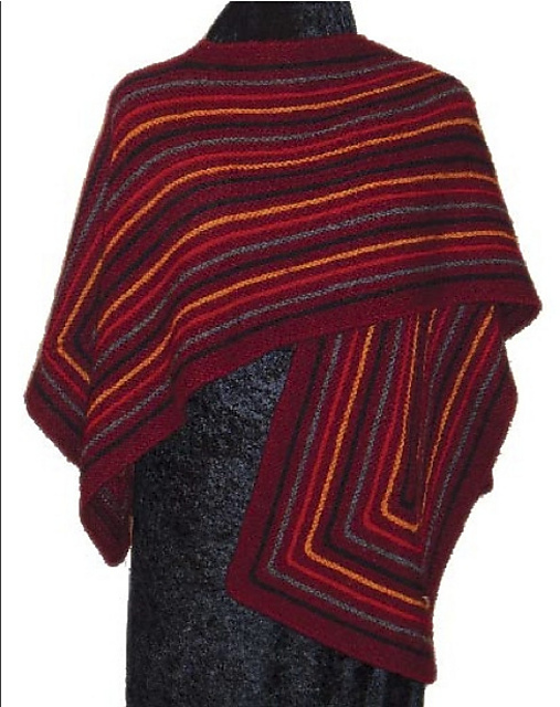 Fiesta Fun Shawl by Judy M. Ellis, Handiwords Ltd LLC