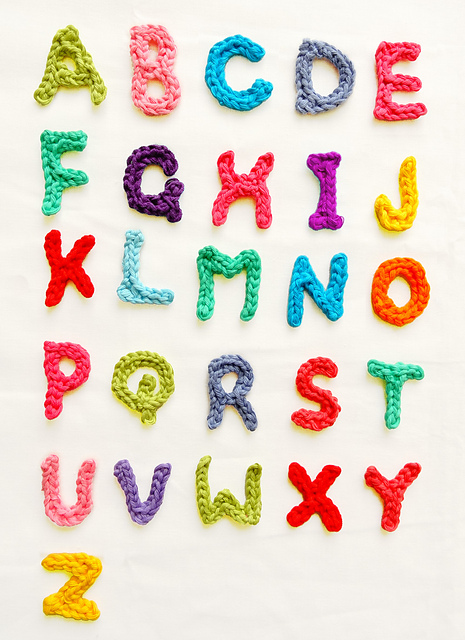 Ravelry Letters A Z Pattern By Handy Kitty Delectable Crochet Letters Patterns