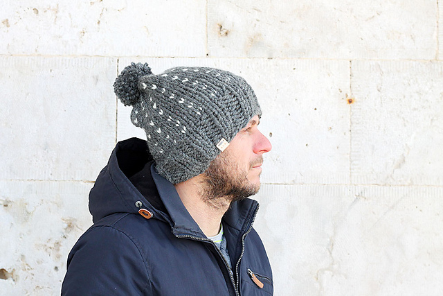 Ravelry Mens Slouchy Bobble Hat Pattern By Louise Bollanos