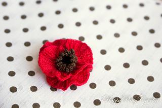 Ravelry Mini Poppy Flower Pattern By Happy Patty Crochet