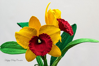 Ravelry orchid cattleya pattern by happy patty crochet happy patty crochet ccuart Images