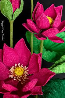 Ravelry Lotus Flower Pattern By Happy Patty Crochet