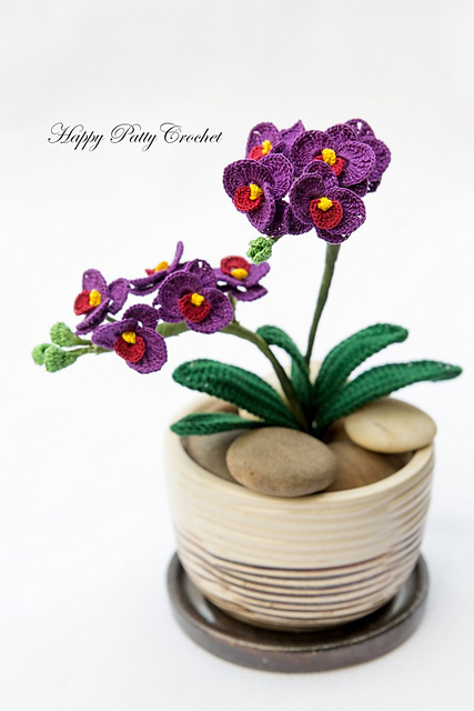 Ravelry orchid mini moth phal pattern by happy patty crochet ccuart Images