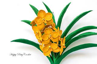 Ravelry ascocenda orchid flower pattern by happy patty crochet happy patty crochet ccuart Images