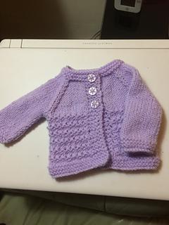 cb4b19c378bd Ravelry  Kensington Baby Jacket pattern by marianna mel