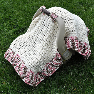 Ravelry Waffle Stitch Car Seat Canopy Blanket Tent Cover pattern by Heather Ormond & Ravelry: Waffle Stitch Car Seat Canopy Blanket Tent Cover pattern ...