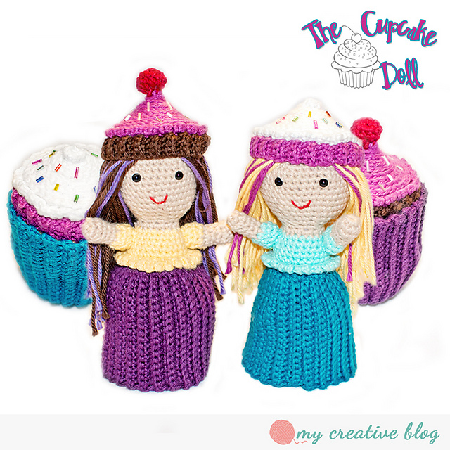 Ravelry cupcake topsy turvy doll pattern by heather boyer dt1010fo