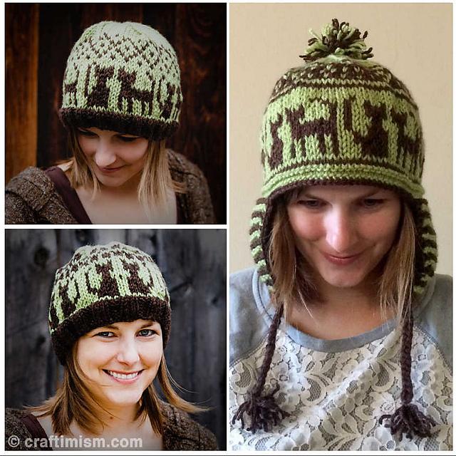Ravelry Cat Earflapbeanie Patterned Knit Hat Pattern By Heidi Arjes