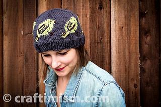 d28f263d448 Ravelry  Bird Patterned Knit Hat pattern by Heidi Arjes