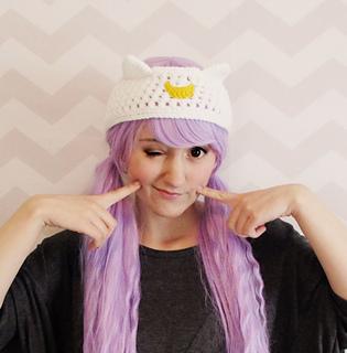 8c900a40967 Ravelry  luna artemis sailor moon cat headband pattern by Hello Happy