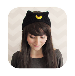 69ae22cc02a Ravelry  luna artemis sailor moon cat headband pattern by Hello Happy