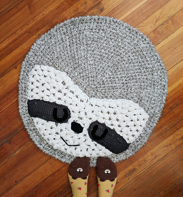 42f23816bf35 patterns   Hello Happy s Ravelry Store.   Sloth rug