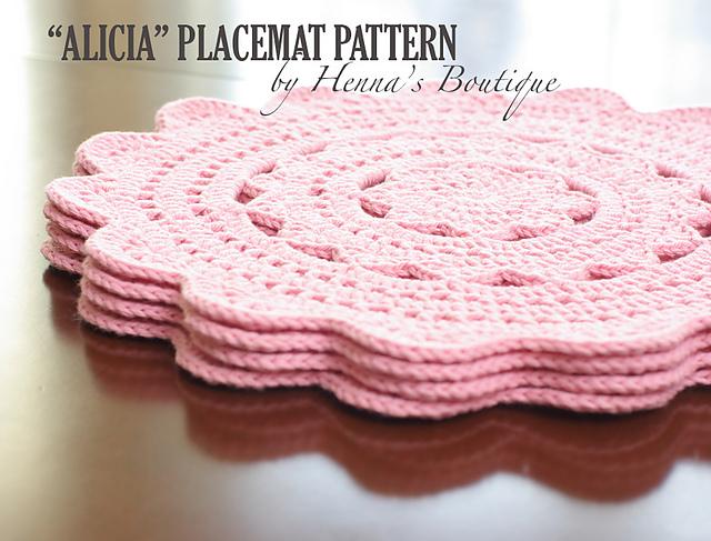 Ravelry Alicia Placemats Pattern By Henna Huczkowski