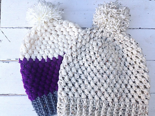 Ravelry  Adult Puff Stitch Beanie pattern by Carrie M Chambers c06100306f3