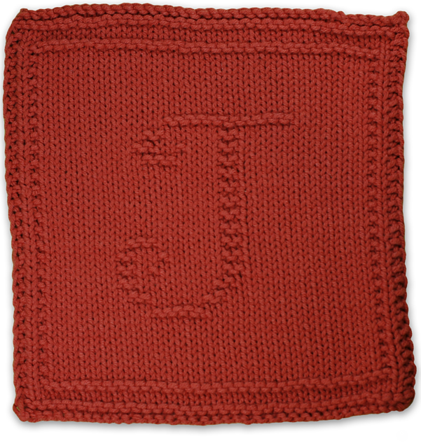 Ravelry Monogrammed Dishcloth Letter J Pattern By Heather Kate