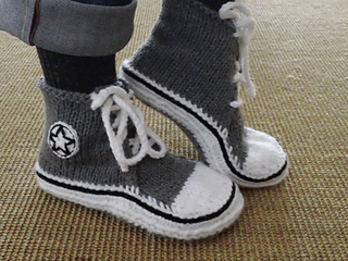 ab64f4911d70 Ravelry  High Top Sneaker Slippers pattern by Sharon Elizabeth