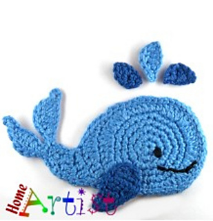 Ravelry Whale Applique Pattern By Homeartist Crochet