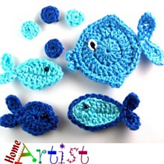 Ravelry Fish Applique Pattern By Homeartist Crochet