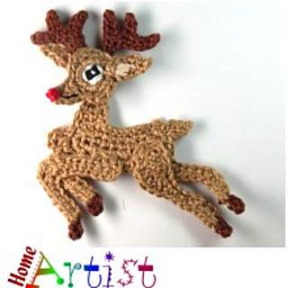 ravelry xmas reindeer applique pattern by homeartist crochet