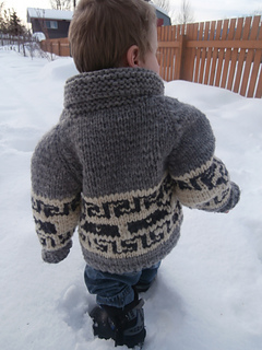 72aab96d1 Ravelry  Northern Whale Cowichan Sweater- Toddler s Cardigan pattern ...