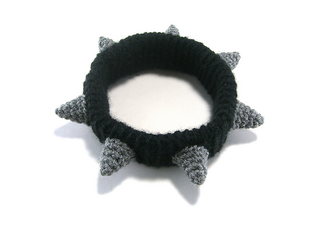 Ravelry: Spiked Dog Collar pattern by Megan Barclay