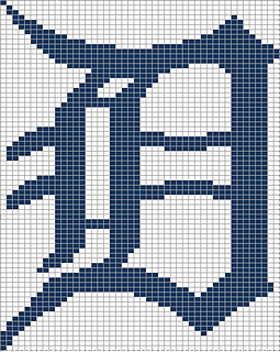 ravelry large detroit tiger s old english d pattern by rachael