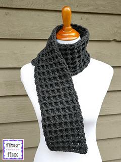Ravelry Waffle Stitch Crochet Scarf Pattern By Fiber Flux
